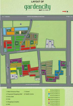 DLF Garden City Plot Layout Plan