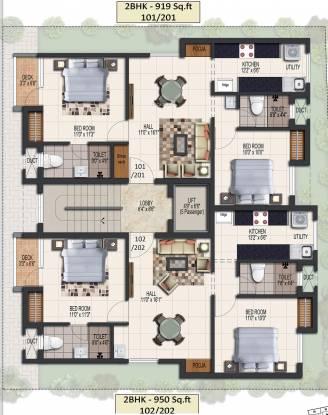 Malles Akankssha Apartment Cluster Plan