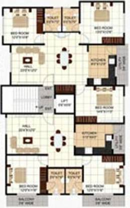Al Najm Builders Bangalore Najm Sapphire Cluster Plan
