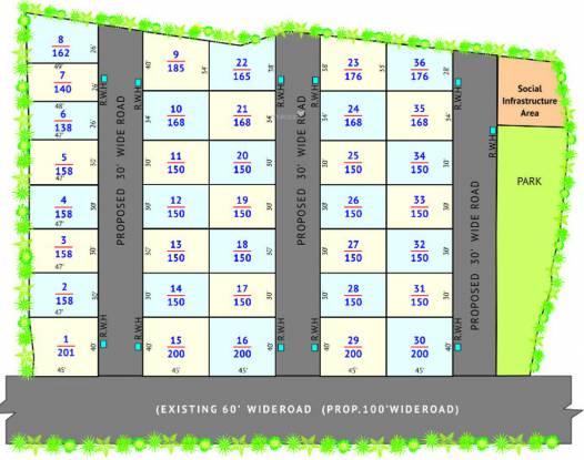 Suryodaya Green Space Layout Plan