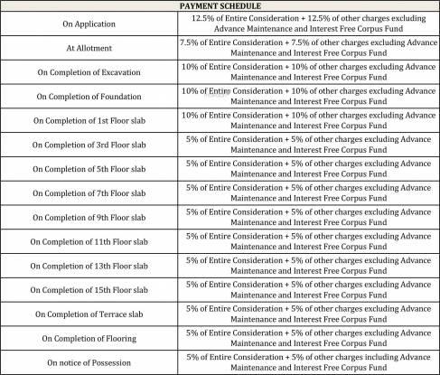 Godrej Azure Phase 2 Payment Plan