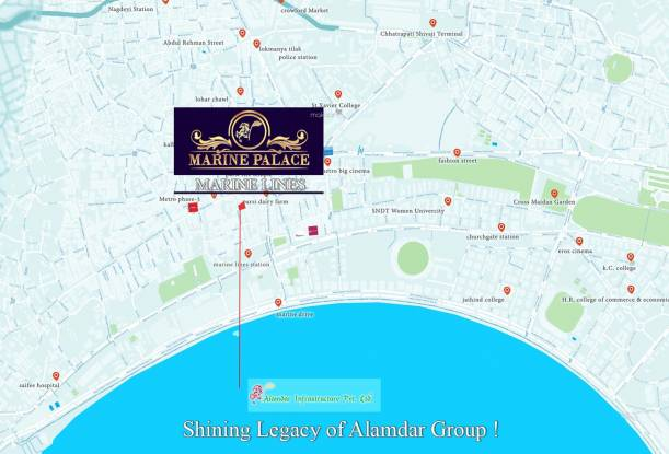 Alamdar Marine Palace Location Plan