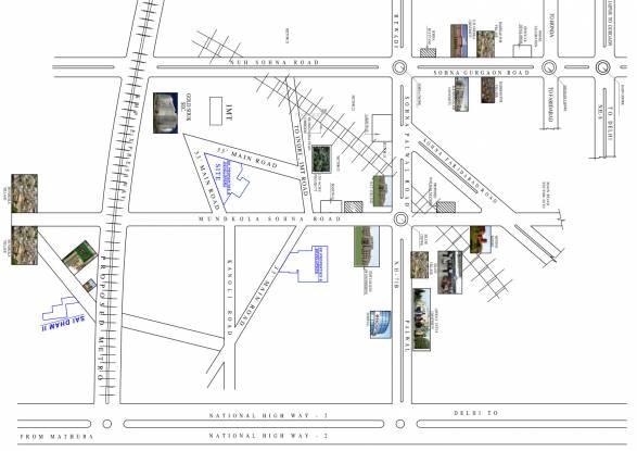 S K Real Tech Sai City Location Plan
