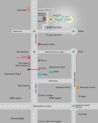 Icon Vensai Icon Temple Tree Location Plan