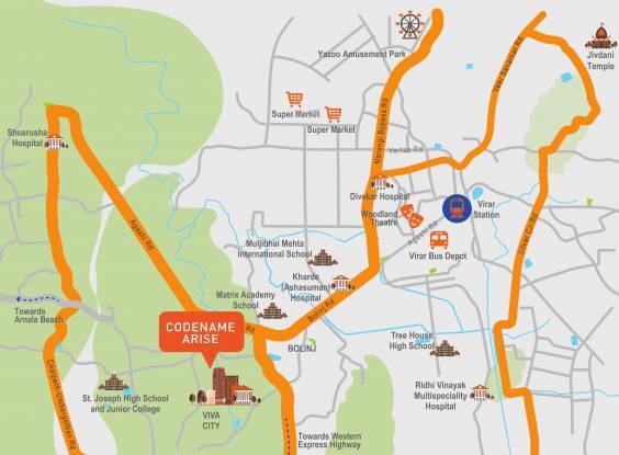 Shapoorji Pallonji Codename Arise Location Plan