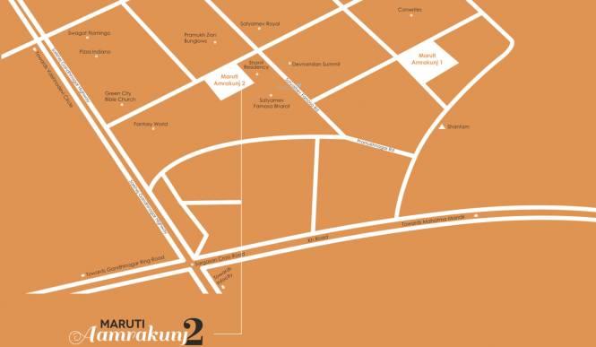 Rajeshri Maruti Aamrakunj 1 Location Plan