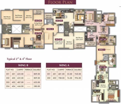 Nimhan Grace Residency Cluster Plan