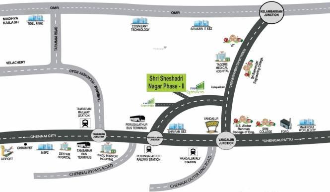 SM Shri Sheshadri Nagar Phase II Location Plan