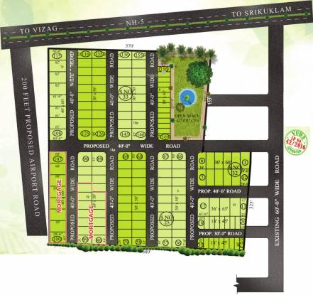 V S Homes And Resorts Venkata Sai Gardens Phase 3 Layout Plan