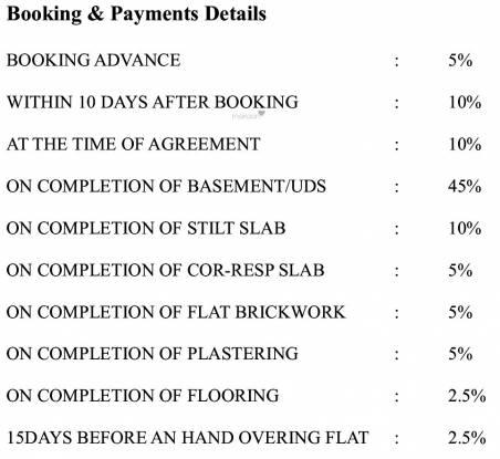 Bhaveshwar Unique Payment Plan