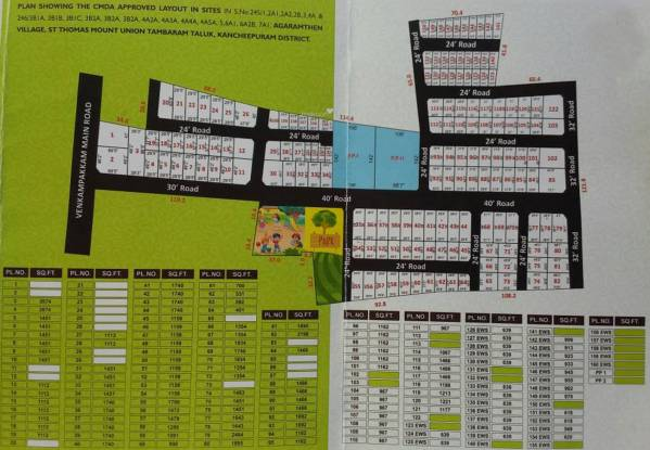 Vishwak Thirumal Nagar Layout Plan