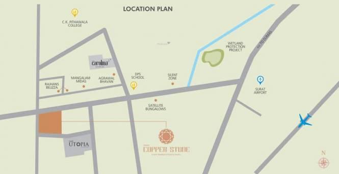 Avadh Copper Stone Location Plan