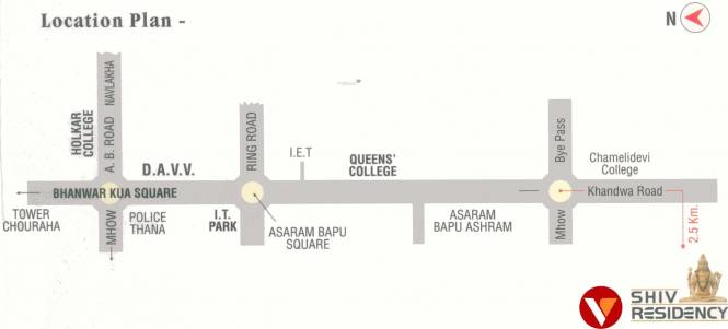Vatsalya Shiv Residency 2 Location Plan