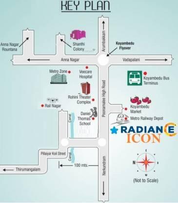 Radiance Icon Location Plan