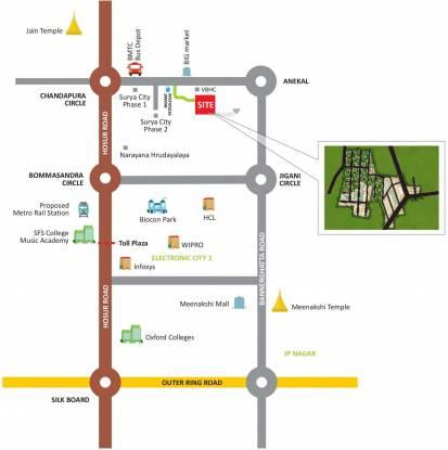 Srinivasa Green Acres Phase 2 Location Plan