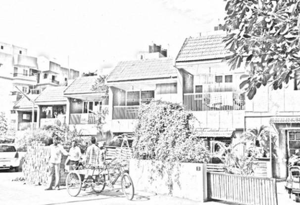Popular Gokul Row Houses Elevation