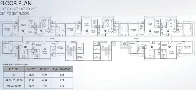 Paranjape Blue Ridge The Lofts Cluster Plan