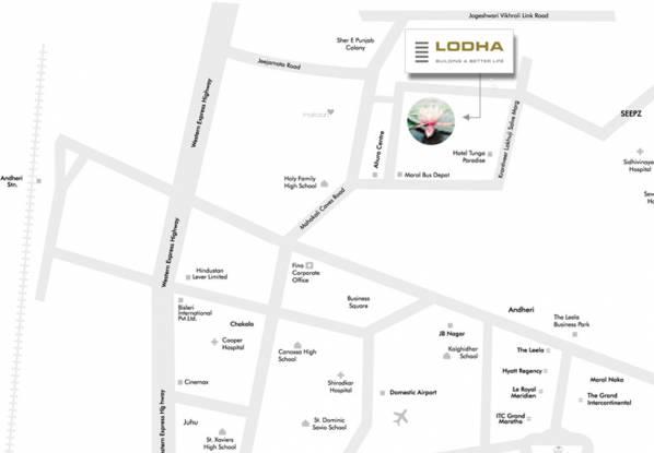 Lodha Eternis Serena A Location Plan