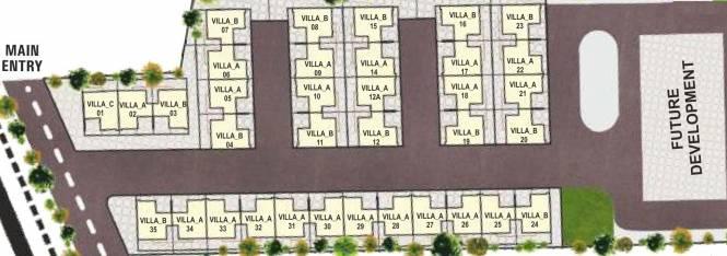 Pratham Riviera Villas Layout Plan