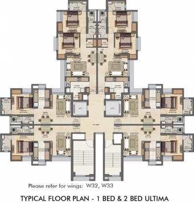 Lodha Amara Tower 32 33 Cluster Plan
