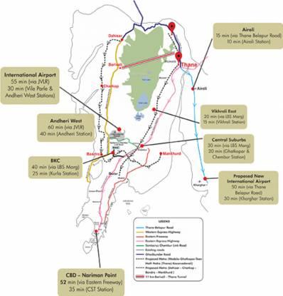 Lodha Amara Tower 26 27 28 30 34 35 Location Plan