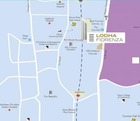 Lodha Fiorenza Milano and Roma Location Plan