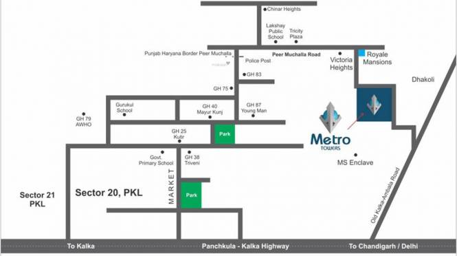 MP Metro Towers Features For A Richer Life Location Plan