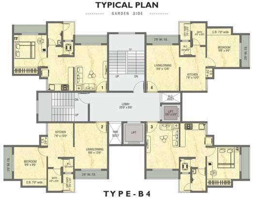Sai Shrushti Heights B4 Cluster Plan