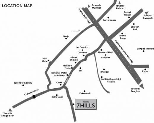 Mantra 7 Hills Phase I Location Plan