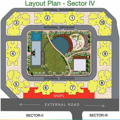 Raunak City Sector IV D1 Layout Plan