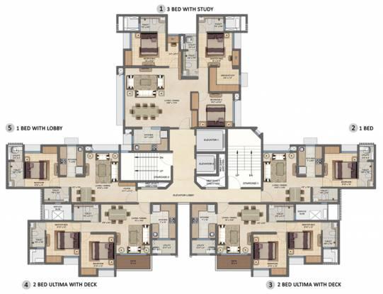 Lodha Upper Thane Ecopolis A B Cluster Plan
