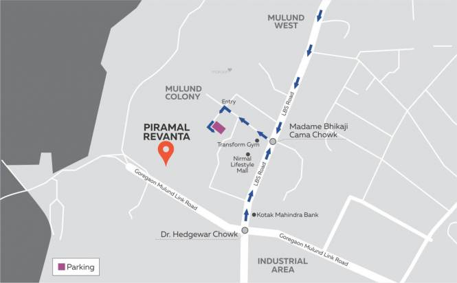 Piramal Revanta Tower 1 Location Plan