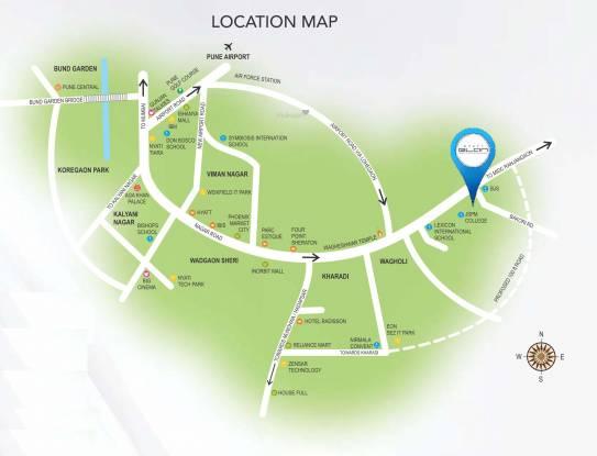 Nyati Elan West I Location Plan