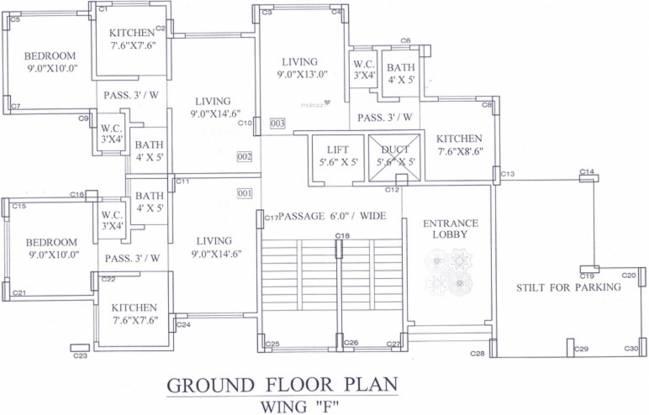 Kohinoor Kohinoor Castles Cluster Plan