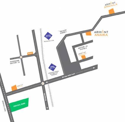 Arihant Anaika Phase I Location Plan