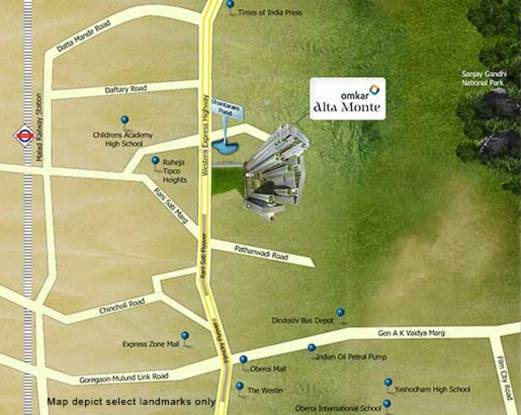 Omkar The BLISS Collection Location Plan