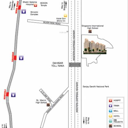 DB Ozone Mumbai Location Plan