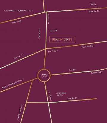 Sheth Beaumonte Tower A Location Plan