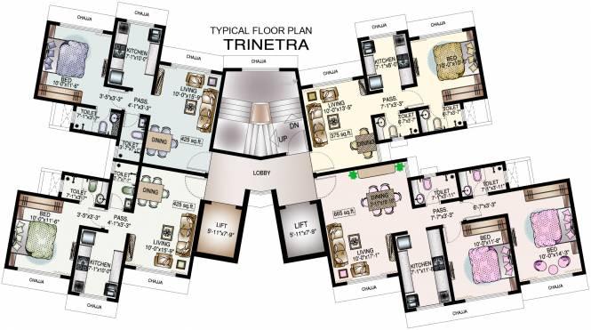 DP Star Trinetra Cluster Plan