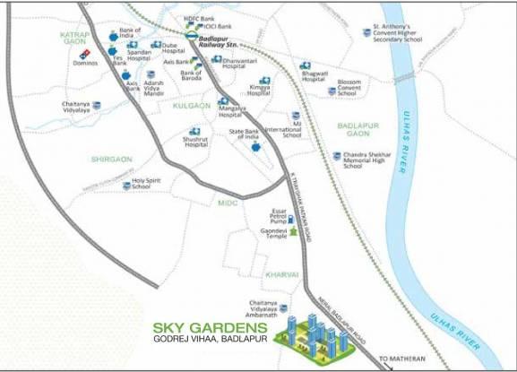 Godrej Sky Gardens At Godrej Vihaa Location Plan