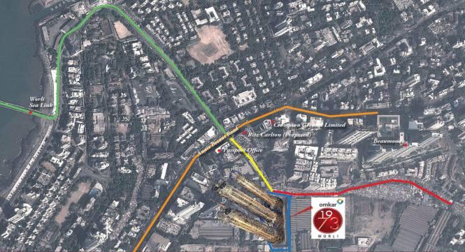 Omkar 1973 Worli Location Plan