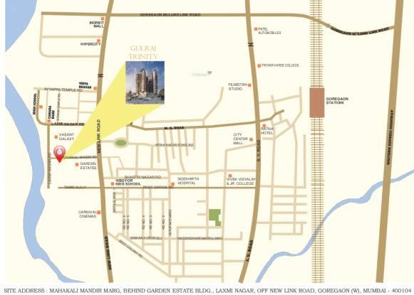 Reliable Gulraj Trinity Location Plan