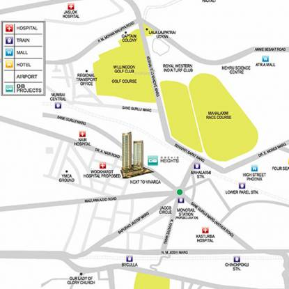 DB One Mahalaxmi Phase 1 Location Plan