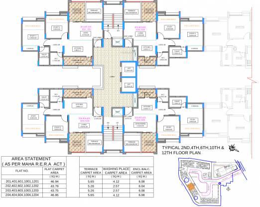 Dhankawade Tamrind Park Phase 1 Cluster Plan