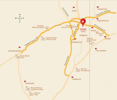 Shriram Divine City Location Plan