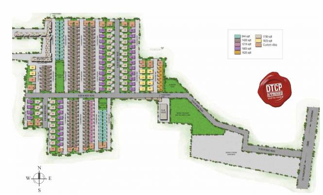 Alliance Humming Gardens Villas Layout Plan