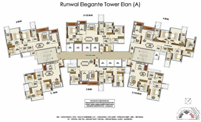 Runwal Elegante Tower A Cluster Plan