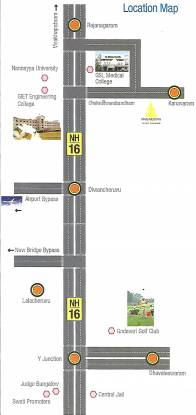Swathi Nagarjuna Township Location Plan