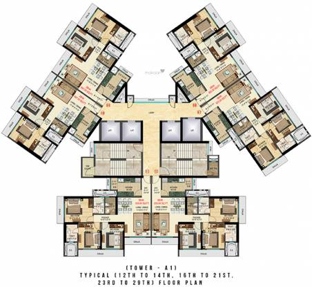Bhoomi Celestia A1 Wing Cluster Plan