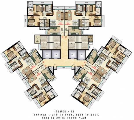 Bhoomi Celestia A Wing Cluster Plan